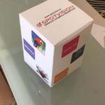 scatola in carta patinata plastificata
