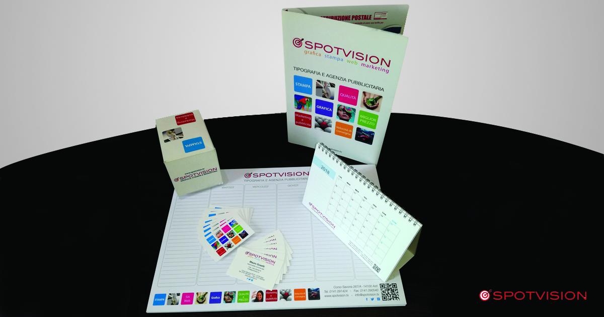 immagine coordinata aziendale Spotvision Asti